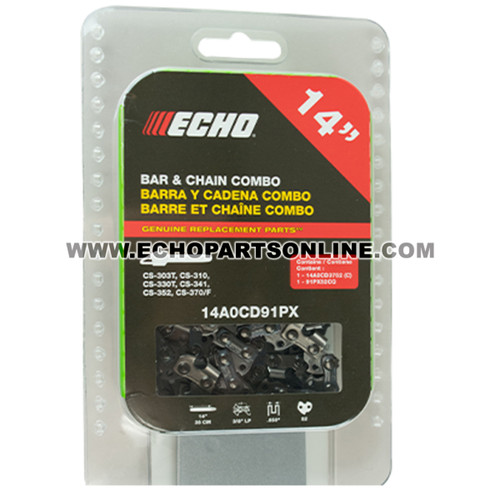 NO LONGER AVAILABLE Echo 14A0CD3752 & 91PX52CQ CS-310 Bar and Chain