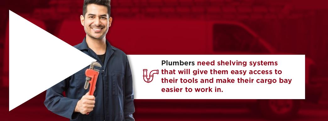 Shelving Packages for Plumbing Work Vans
