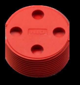HID Bin Tag LF HDX BDE (EN14803), Red - No Logo RFID Tag (6B7104-102R)
