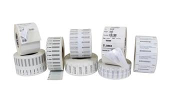 "Zebra Z-Perform 1500T 4"" x 2"" General Purpose TT RFID Labels 10026648 (White, 1 Roll)"