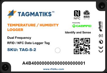 TagMatiks Temperature & Humidity RFID Logger Tag (TAG-S)