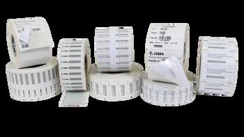 "Zebra PolyPro 3000T 0.94"" x 0.55"" General Purpose TT RFID Labels 10036485 (White, 2 Rolls) (10036485)"