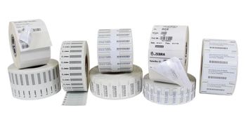 "Zebra Z-Perform 1500T 1.75"" x .75"" General Purpose TT RFID Labels 10037102 (White, 12 Roll) (10037102)"