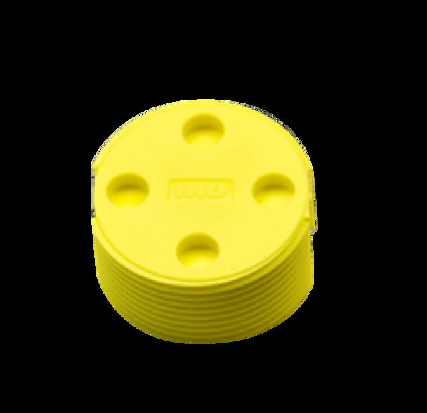 HID Bin Tag LF FDX-B BDE (EN14803), Yellow - No Logo RFID Tag (784104-102Y