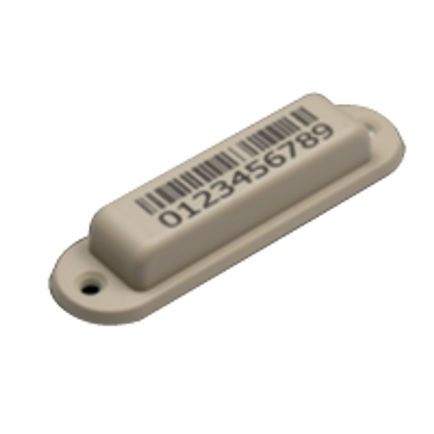 HID UHF RFID InLine Ultra - Gray 1D Barcode (screwable, M4QT) (6A7980-120)