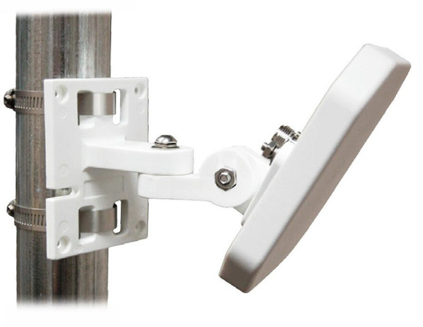 RFMAX ALLPMTE-002 Articulating Wall or Mast Mount for S9025P type RFID Antennas-White (RFMAX-ALLPMTE-002)