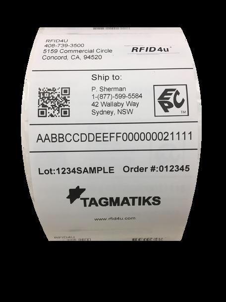 """TagMatiks Kickstart 4"""" x 6"""" RFID Labels ( TAG-K-LBL-46)"""
