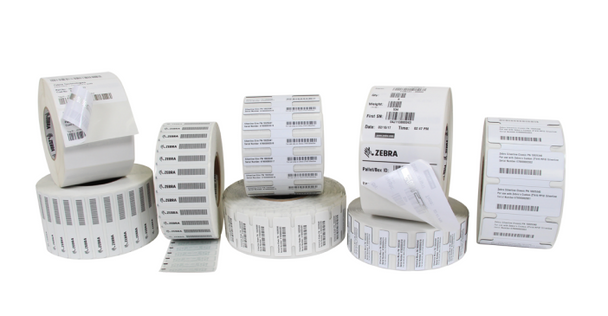 """Zebra 4"""" x 6"""" Advanced Thermal Transfer RFID Labels for ZD500R, RXi4, ZT400R and ZT600R (10026462)"""