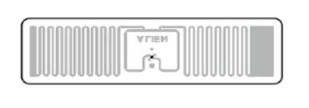 HID UHF RFID Label OM PET White 48 x 13 mm Rectangle- NTAG213 (6F2F47)