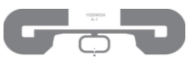 "HID 6H2H92 3.6"" x 1.1"" UHF RFID PET Label (Transparent, 1 box)"
