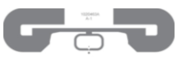 "HID 6H2E92 UHF RFID PET Label 3.6"" x 1.1"" (White) (6H2E92)"