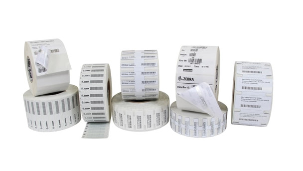 "Zebra Z-Perform 1500T 3.819"" x 0.591"" General Purpose TT RFID Labels 10026631 (White, 2 Rolls)"