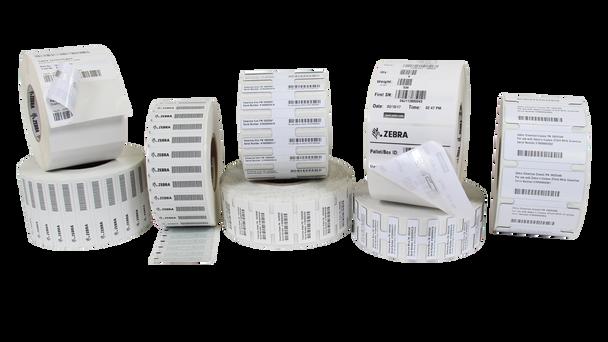 "Zebra PolyPro 4000D 1.75"" x 0.75"" General Purpose DT RFID Labels 10030284 (White, 12 Rolls) (10030284)"