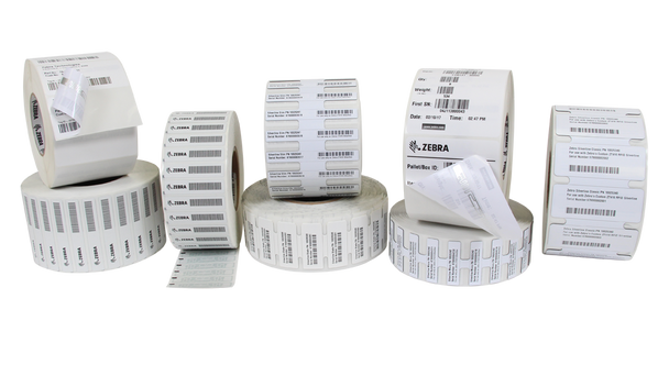 "Zebra PolyPro 4000D 4"" x 2"" General Purpose DT RFID Labels 10034079 (White, 12 Rolls) (10034079)"