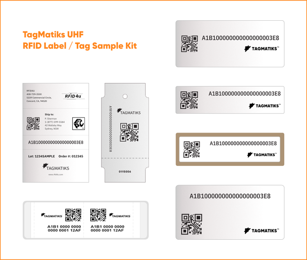 TagMatiks UHF RFID Label / Tag Sample Kit (TAG-LBL-KIT)