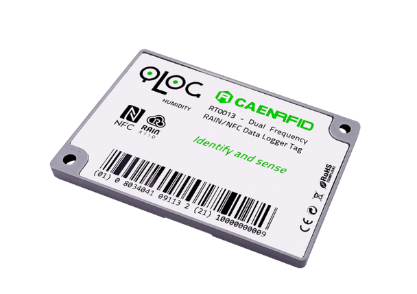 Caen qLog RT0013 Dual Frequency RAIN/NFC Data Logger Tag (WRT0013XAAAA)