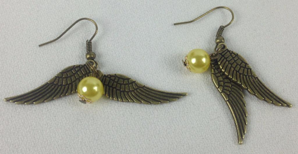 Golden Snitch Dangle Earrings