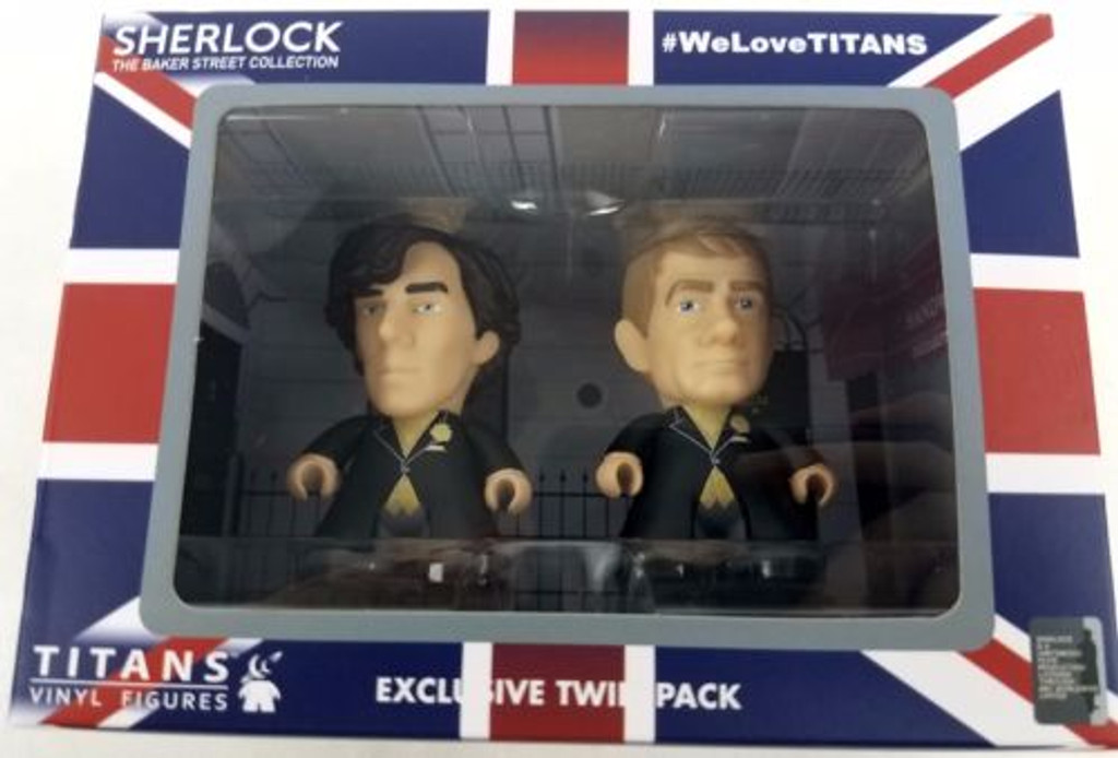 BBC TV Series SHERLOCK: Holmes and Watson Wedding Day Titan Vinyl Figure Set - Entertainment Earth Exclusive