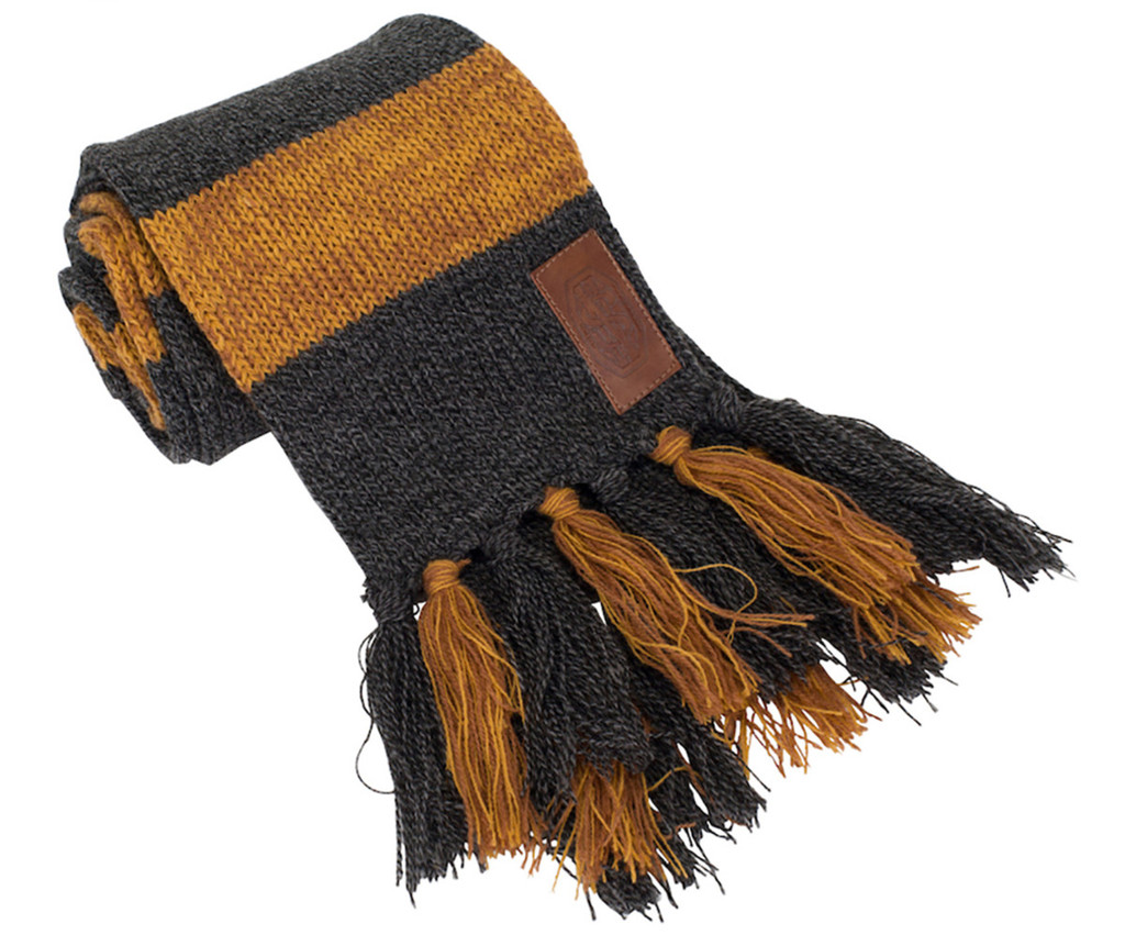 Fantastic Beasts NEWT SCAMANDER'S HUFFLEPUFF Monogramed Knit Scarf