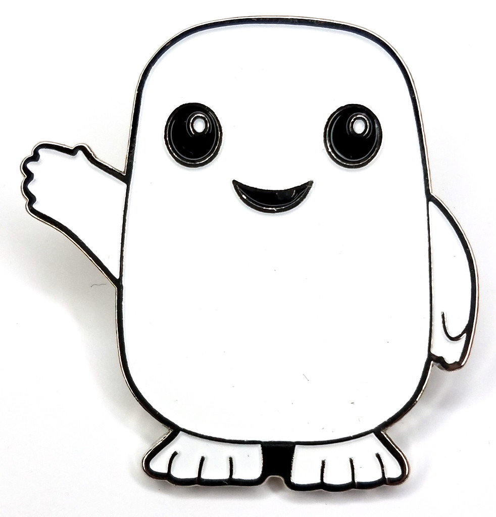 ADIPOSE - Large Enamel Lapel Pin from the Doctor Who TV Series starring David Tennant