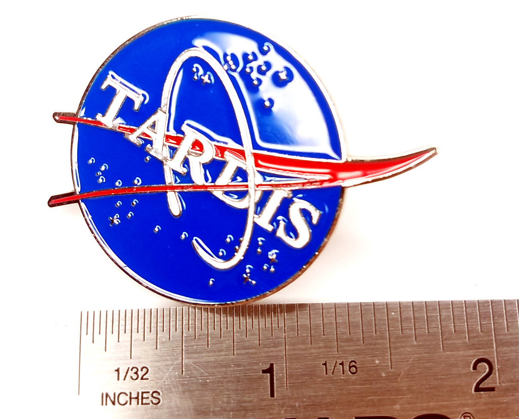 NASA TARDIS Enamel Pin