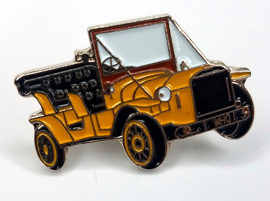 Jon Pertwee's Car Bessie in Doctor Who BBC TV Series - UK Imported Enamel Lapel Pin