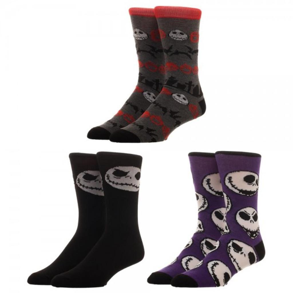 Nightmare Before Christmas 3-Pack Crew Sock Set