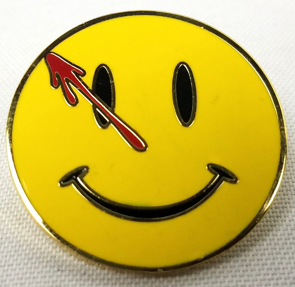 WATCHMEN Movie - TV - Comic Book Series Logo - Enamel Lapel Pin - Moore and Gibbons