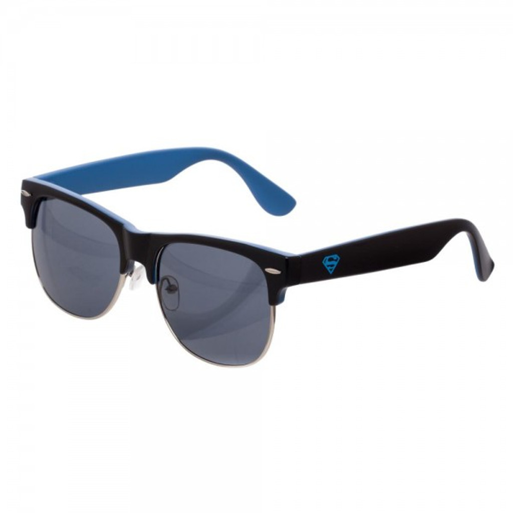 Superman Logo Half Frame Sunglasses and Case