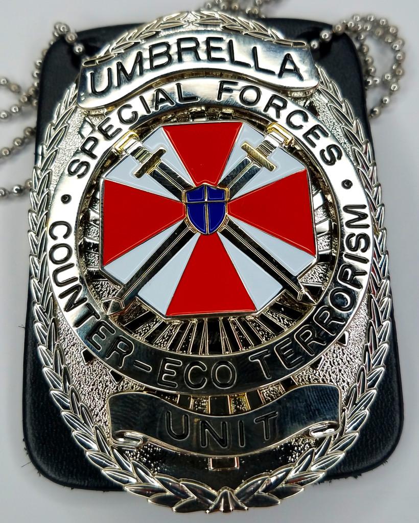 UMBRELLA Special Forces Unit - Counter-Eco Terrorism  - Resident Evil Movie Prop Replica Badge