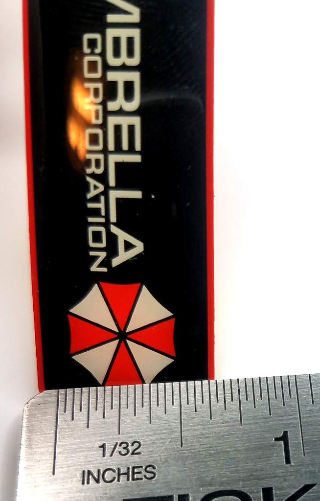 RESIDNET EVIL Umbrella Corporation Logo - Long Bar Style -  Enamel Lapel Pin
