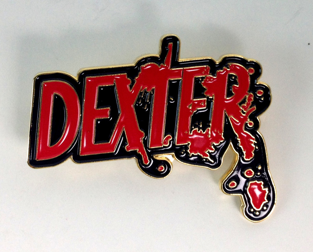 DEXTER TV Series Logo Enamel Pin - Based on the show starring Michael C. Hall