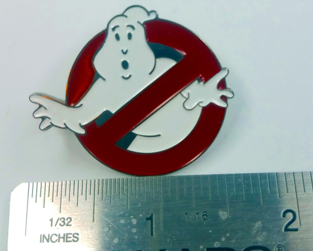 GHOSTBUSTERS  - Original 1984 Movie Logo - Enamel Lapel Pin - Bill Murray & Dan Aykroyd