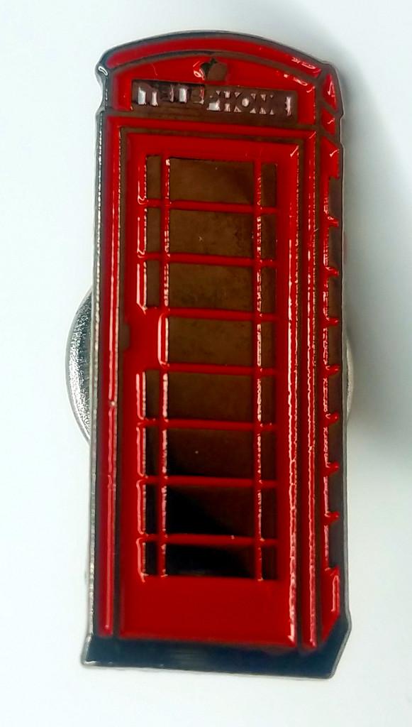 British Telephone Booth (Not the TARDIS) London Icons - UK Imported Enamel Pin