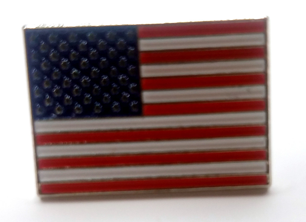 The American Flag - Red White and Blue - Old Glory - USA Enamel Lapel Pin