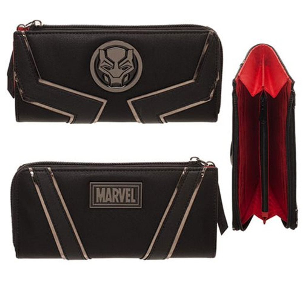 Marvel's BLACK PANTHER Movie Zipper Wallet