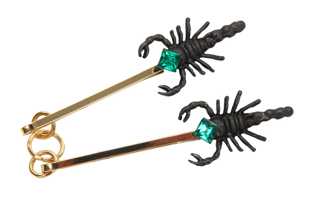Fantastic Beasts - PERCIVAL GRAVES Scorpion Collar Pins (from the magical world of Harry Potter)