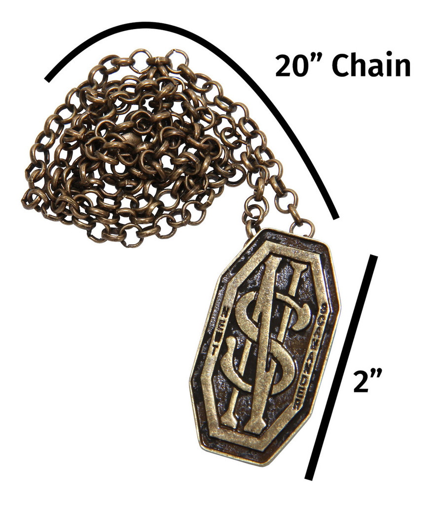 Fantastic Beasts - NEWT SCAMANDER Monogram Pendant/Pin (from the magical world of Harry Potter)
