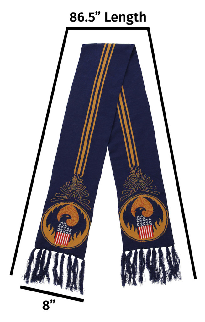 Fantastic Beasts MACUSA Logo Knit Scarf (from the magical world of Harry Potter)