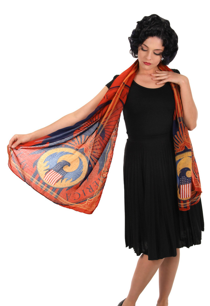 Fantastic Beasts MACUSA Logo Lightweight Scarf (from the magical world of Harry Potter)