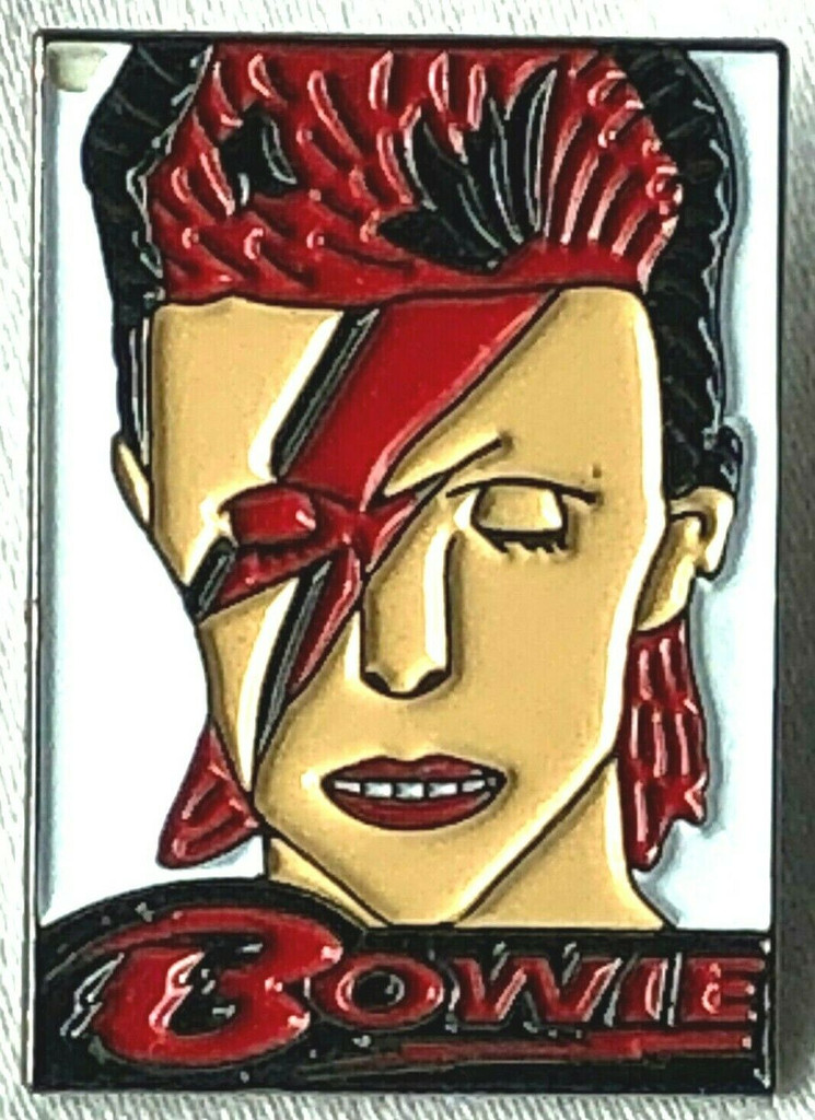 DAVID BOWIE (Aladdin Sane album cover) UK Imported Rock Band Lapel Art Pin