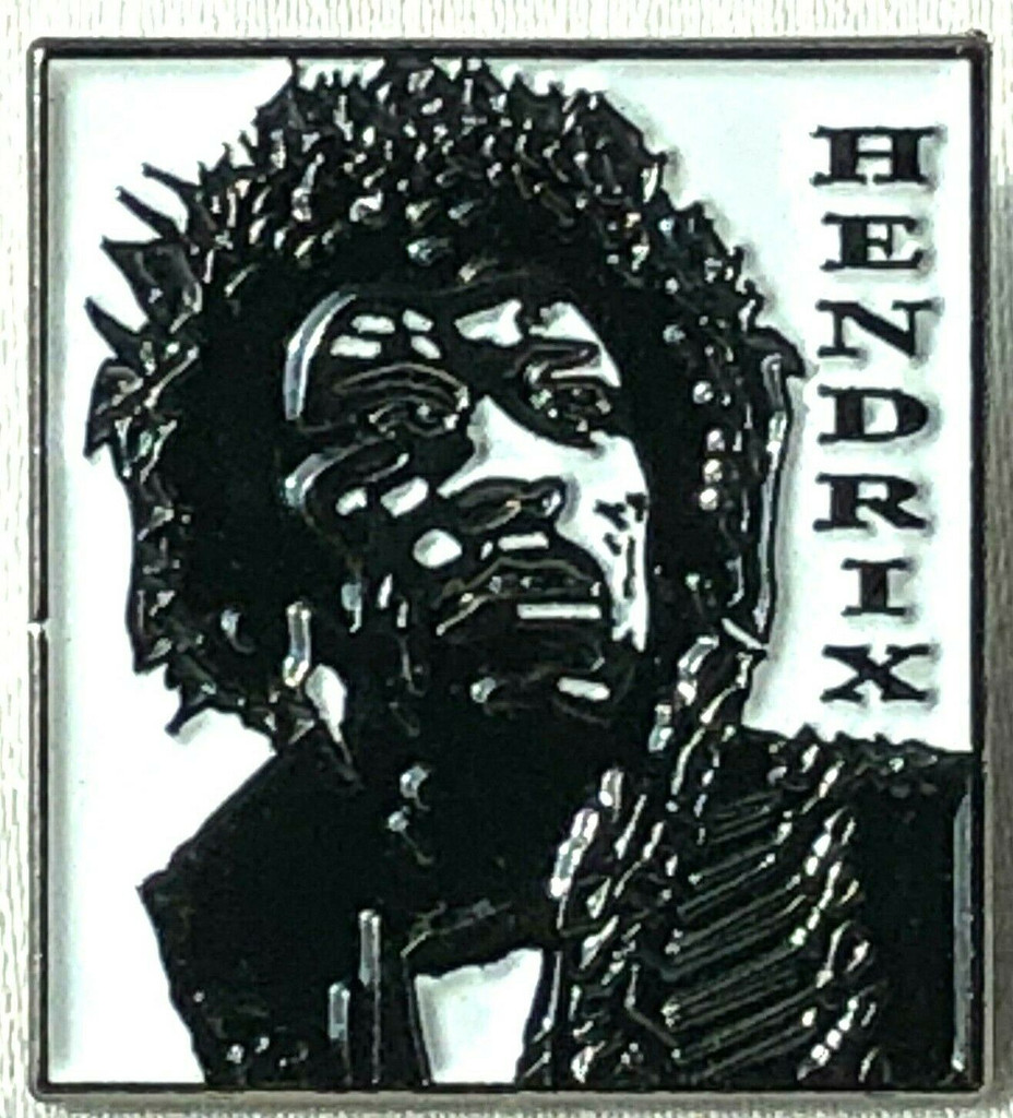 JIMI HENDRIX - UK Imported 50 Years Rock Band Artistic Tribute Lapel Pin