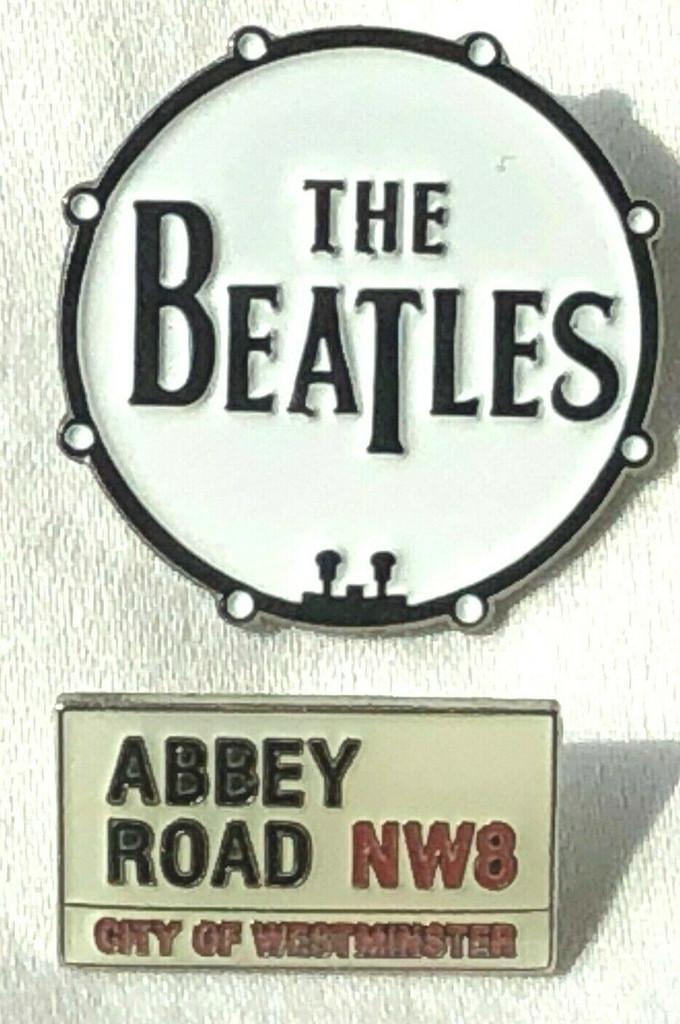 BEATLES Rock Band  -UK Imported Lapel Pins - Set of 2 (Lennon - McCartney - Harrison - Starr)