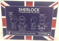 BBC TV Series SHERLOCK: Holmes and Watson in Pajamas Titan Vinyl Figure Set - NYCC 2015 Exclusive