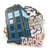 The TARDIS Doctor Who Science Fiction TV Series Logo - Danbury Mint Enamel Lapel Pin