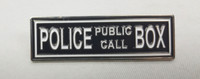 The TARDIS Police Public Call Box Doctor Who TV Series Logo Enamel Lapel Pin