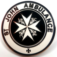 TARDIS St. John Ambulance Sign - Doctor Who TV Series Enamel Lapel Pin - Peter Capaldi