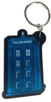 Vinyl TARDIS Keychain