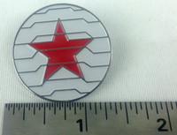WINTER SOLDIER - Marvel Comics and Movie Series - Enamel Lapel Pin - Avengers! Bucky Barnes