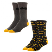 DC Comics Batman 2-Pack Crew Socks